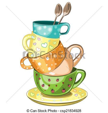 Fancy Mugs clip art von tee tassen gestapelt gestapelt phantasie