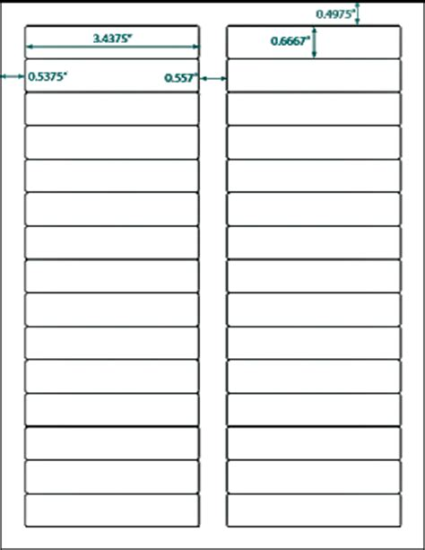 600 compulabel 174 white blank printable file folder labels
