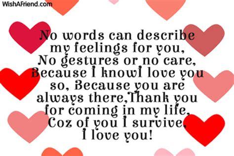 no words can describe my feelings love message for boyfriend