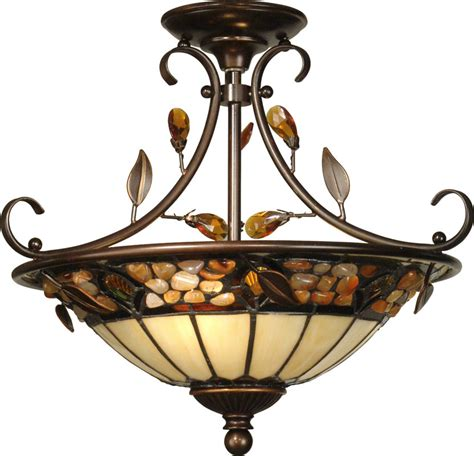 Hinkley Lighting Dale Tiffany Th90218 Pebble Stone Antique Golden Sand