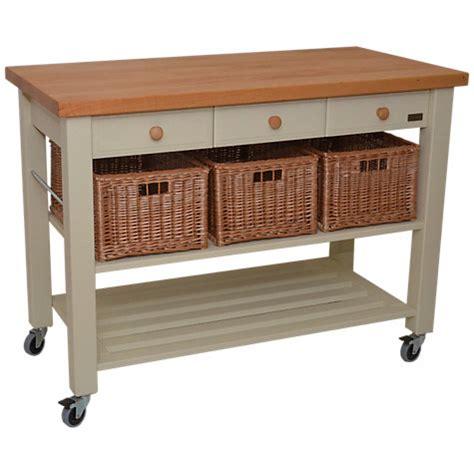 Kitchen Trolley Island buy eddingtons lamborn 3 drawer butcher s trolley john lewis