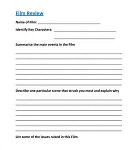 sample film review template 8 free documents download