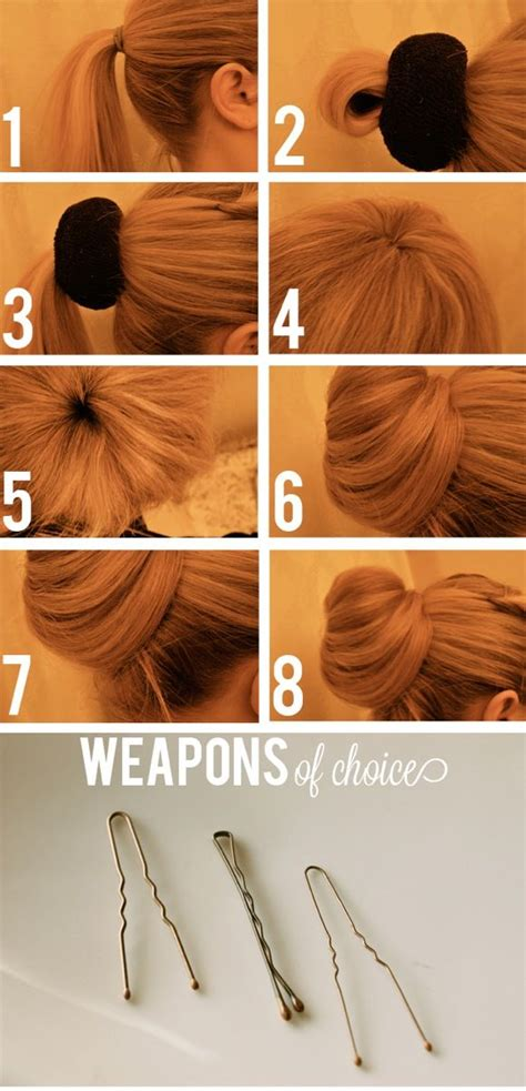 Hairstyles Accessories Bun Recipe by Easy Sock Bun Tutorial For A Hairstyle Alldaychic