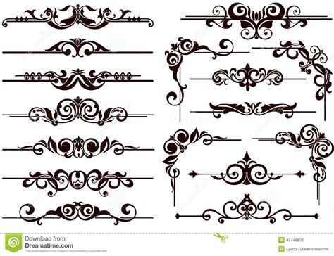 borders design elements vector vector ornaments frames corners borders stock vector