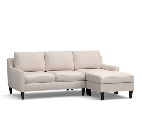 chaise pottery barn awesome reversible chaise sofa 4 pottery barn sectional