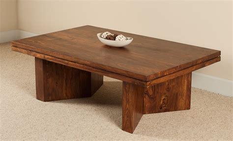 Angled Coffee Table Sheesham Wood Stained Honey Colour Sheesham Coffee Table