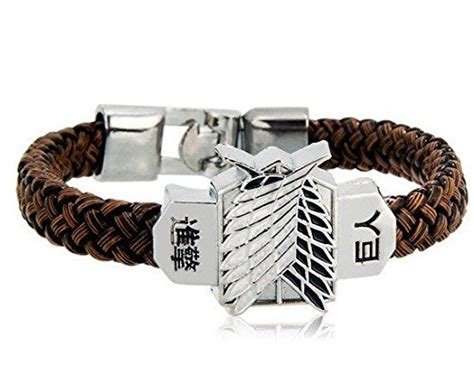 oliasports attack on titan leather woven stainless steel