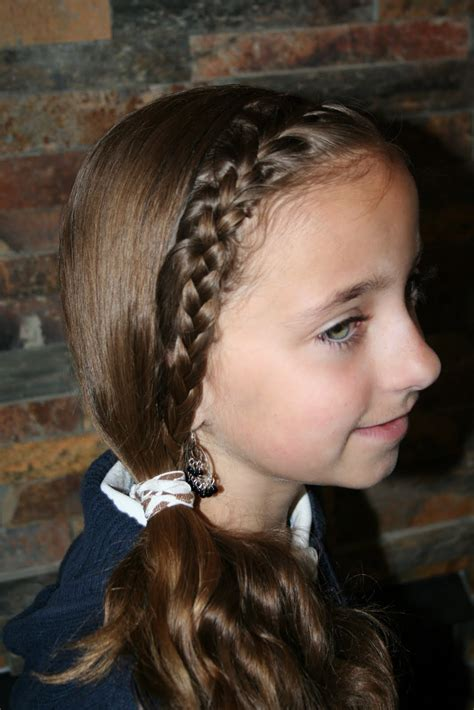 french braid hairstyles for tweens french front subtle side ponytail cute girls hairstyles