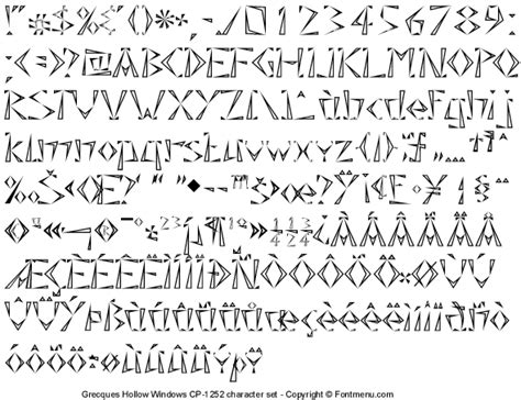 free printable hollow fonts grecques typeface family free downloadable fonts for
