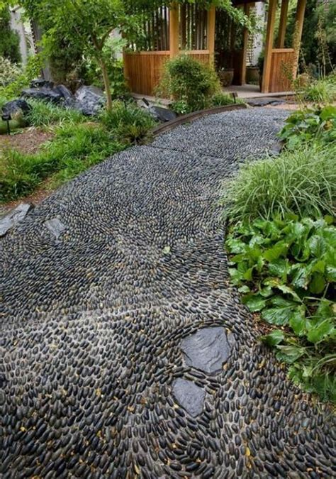 Pebble Rock Garden Designs Beautiful Garden Path Designs And Ideas For Yard Landscaping With Pebbles