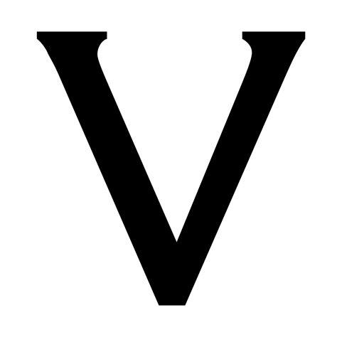 Letter V letter v dr
