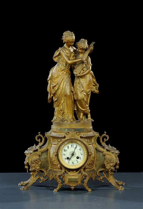 orologi da tavolo antichi vendita orologio da tavolo in bronzo dorato xix secolo