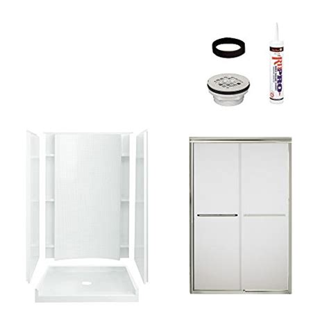 sterling bathroom fixtures sterling plumbing 7226 5475nf shower package white with