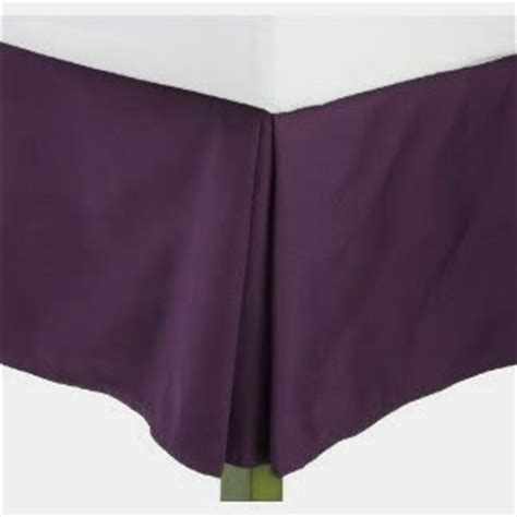 bed skirt amazon amazon com full size solid bed skirt with 14 quot drop dark purple home kitchen