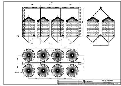 layout bin grain silos drawings