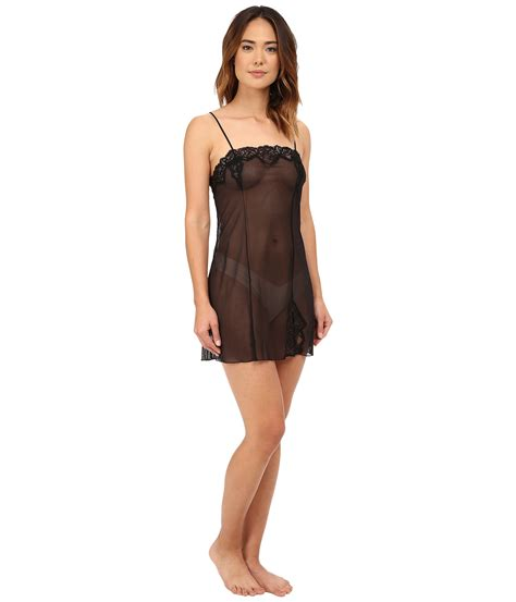 Sheer Chemise wacoal sheer enough chemise in black lyst