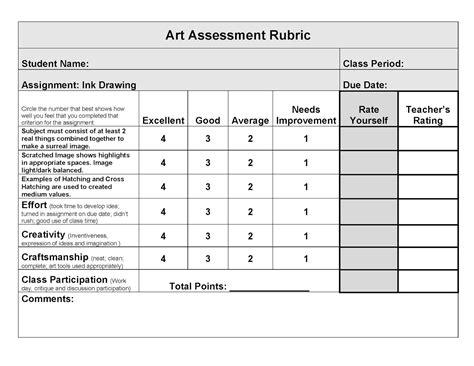 art rubric template related keywords art rubric template