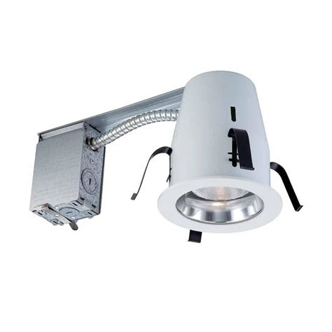 Ic Recessed Lights by Commercial Electric 4 In Chrome Non Ic Remodel Recessed