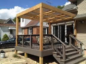 Diy Pergola On Existing Deck by Woodwork Pergola Plans On Existing Deck Pdf Plans