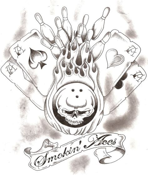 smokin aces tattoo smokin aces bowling team by thelob on deviantart