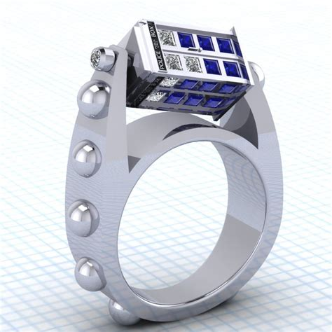 this doctor who spinning tardis ring is a thing of