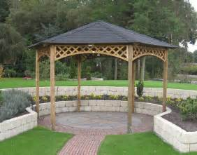 Hexagonal Pergola Designs by Large Hexagonal Gazebo 4m Diameter