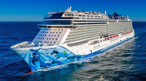 norwegian cruise ship bliss norwegian cruise line takes delivery of their newest ship