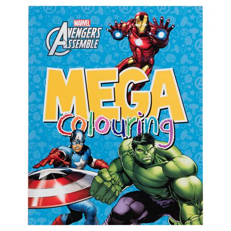 mega colouring books avengers kids arts crafts books