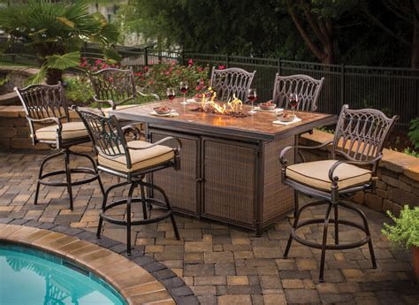 patio set with pit patio dining set pit