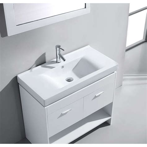 White Vanity Sink by 36 Quot Gloria Single Bathroom Vanity In White With White