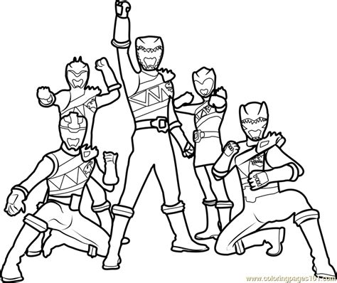 power rangers team coloring pages dino chargers free colouring pages