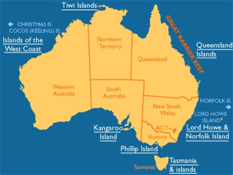 map of australia and islands modal title