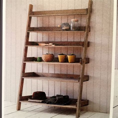 rustic oak ladder shelf large allissias attic