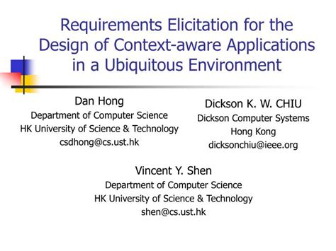 guidelines for design for environment ppt requirements elicitation for the design of context