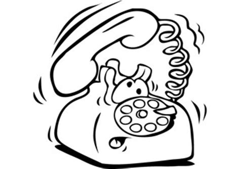 telephone coloring pages pictures picture to pin on