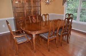 ethan allen legacy maple dining table four ladderback