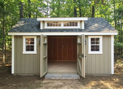 amish garages ideas  pinterest amish sheds