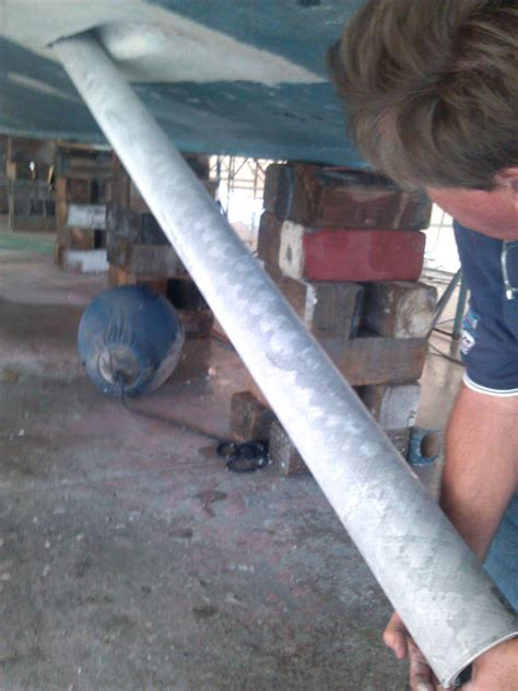 boat stern tube replacement high seas yacht service specializing in marine