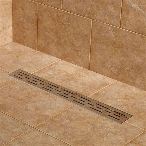 Bathroom Shower Tile Design by Effendi Linear Shower Drain Bathroom
