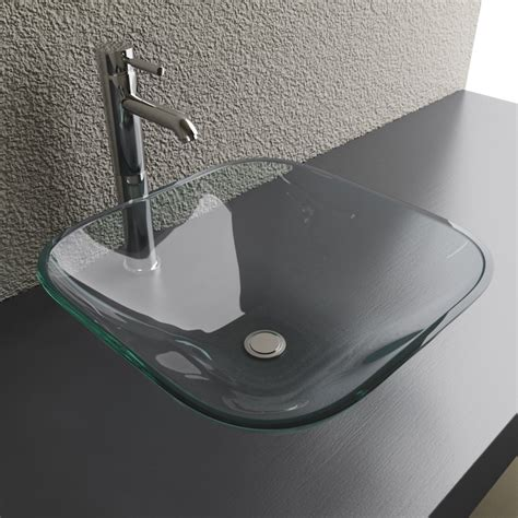Cantrio Koncepts Gs 101 Glass Square Vessel Sink Lowe S Vessel Kitchen Sink