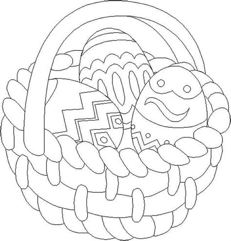 easter egg basket coloring pages holiday coloring pages