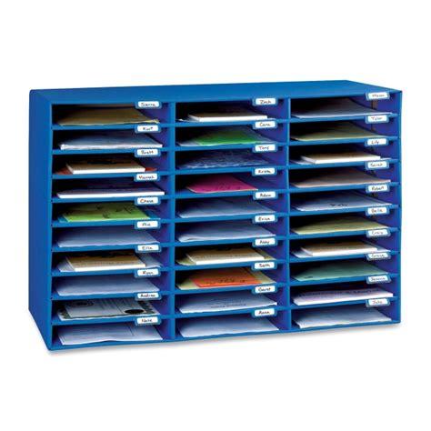 mail sorter pacon 001318 mailroom sorter 1 75 quot height x 12 50 quot width x 10 quot depth blue quickship