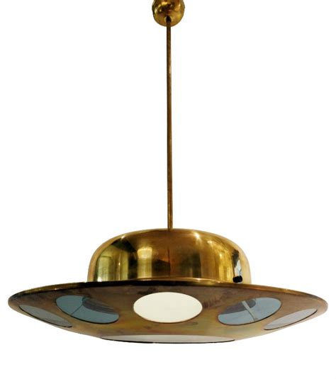 1950s Light Fixtures Brass And Glass Italian 1950s Light Fixture With Circular Designs Ceiling Light Lighting