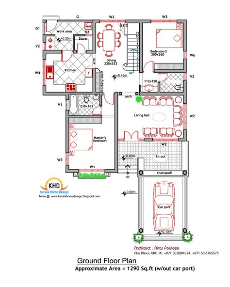 home design plans for 2000 sq ft house plan and elevation 2000 sq ft kerala home