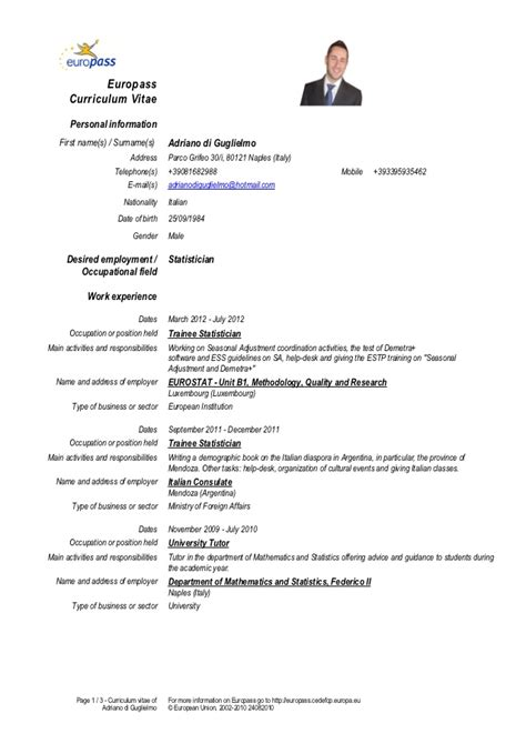 Sample Chef Resume by Cv Di Guglielmo Eng