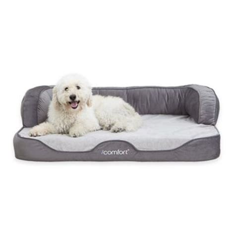 pet r for bed buy serta 174 icomfort 174 cuddler medium pet bed in grey from