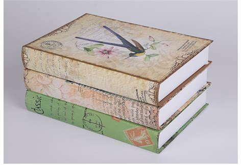 home decor book diy rural home decor fake book shoot props simulation