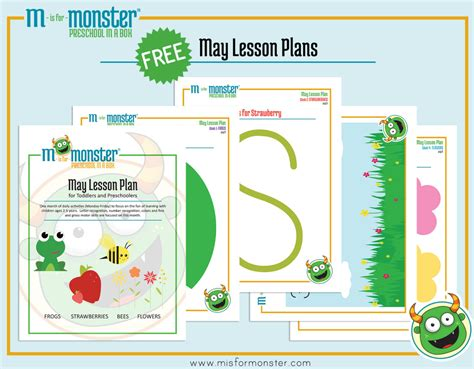 graphic design layout lesson may toddler and preschool lesson plan m is for monster