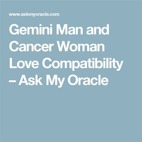 Aries Man And Gemini Woman Love Compatibility Ask Oracle | gemini man and cancer woman love compatibility ask my