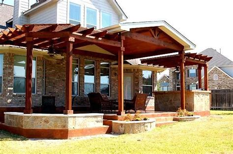 pergola covered patio covered deck deck pool and yard ideas